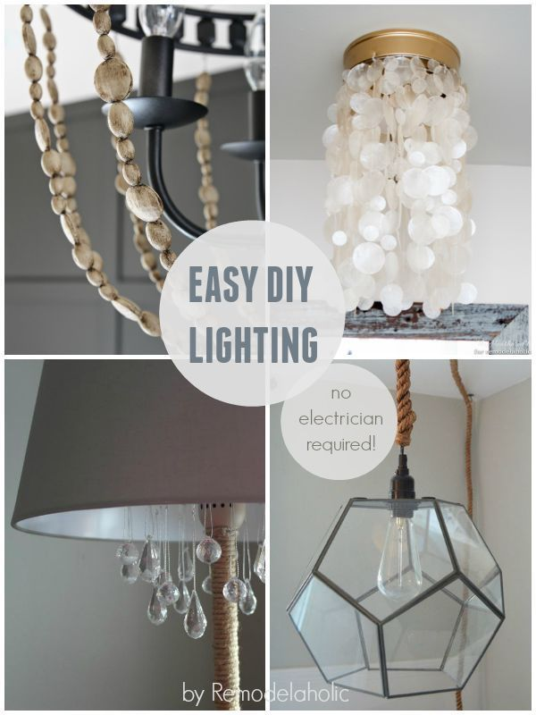 Update your lighting -- no electrician required! These easy DIY fixes will make your lighting look like new, on a budget. #spon