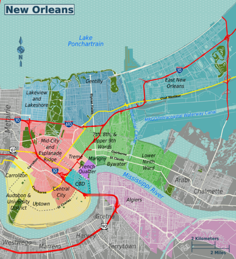 know this: map of new orleans metro | New orleans reise, New ...