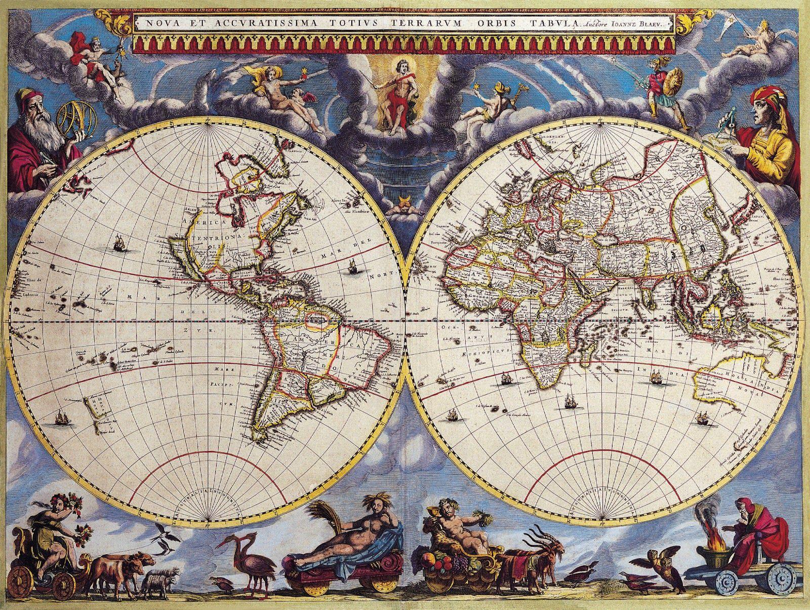 "Cartes du monde au XVIIème siècle | ₳rt 1600 1699 ""XVII™ Siècle"
