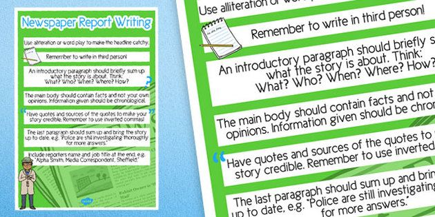 We are learning to write good non-chronological reports