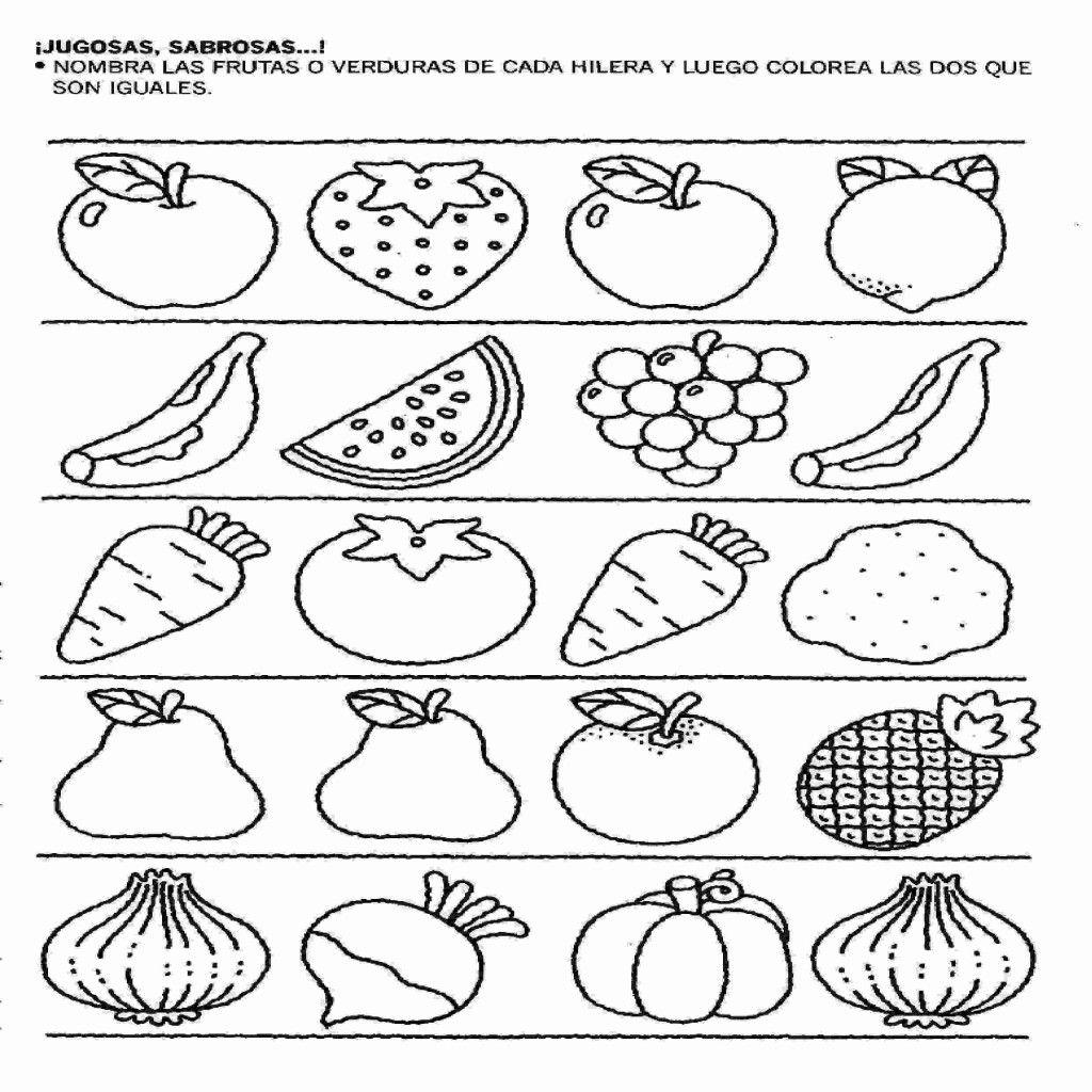 Dibujos Para Colorear De Frutas Para Imprimir Actividades Para