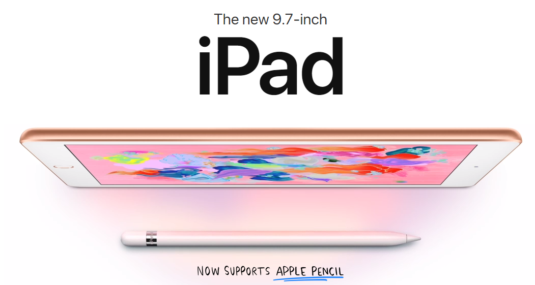 New 2018 9.7 iPad Apple launch, Ipad, New apple ipad