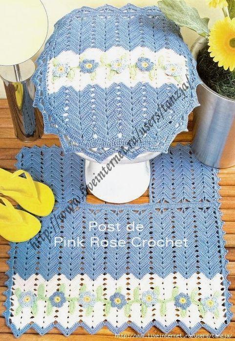 Kit azul para el cuarto de baño | Juegos de baño, Patrón ...