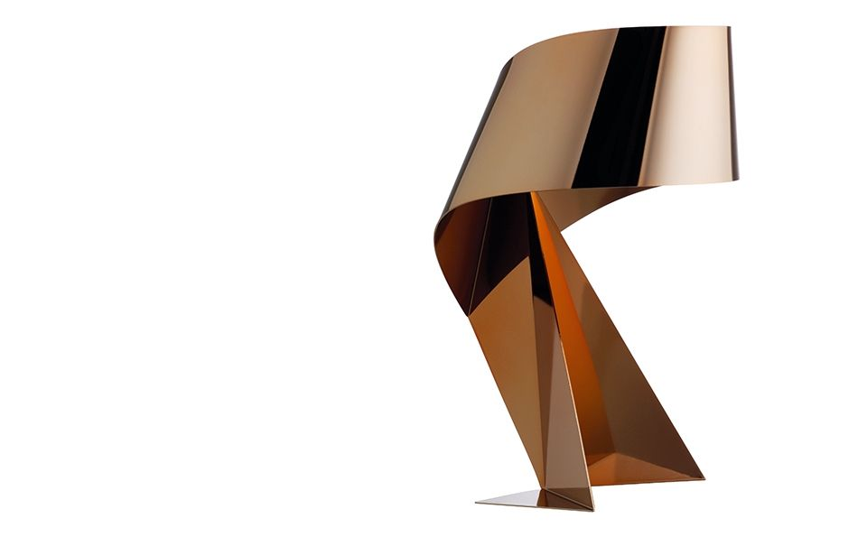 This Stunning Copper Ribbon Lamp By Claire Norcross Is Inspired By Oragami  And Will Be Available