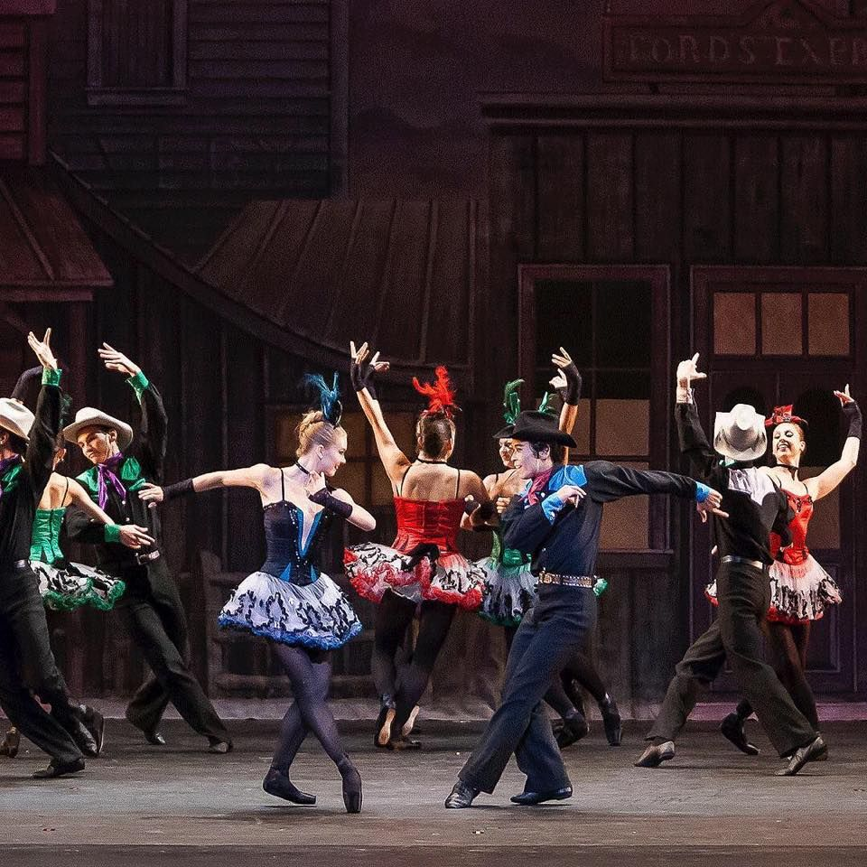 Los Angeles Ballet In Balanchine S Western Symphony Ballet Costumes Ballet Dance
