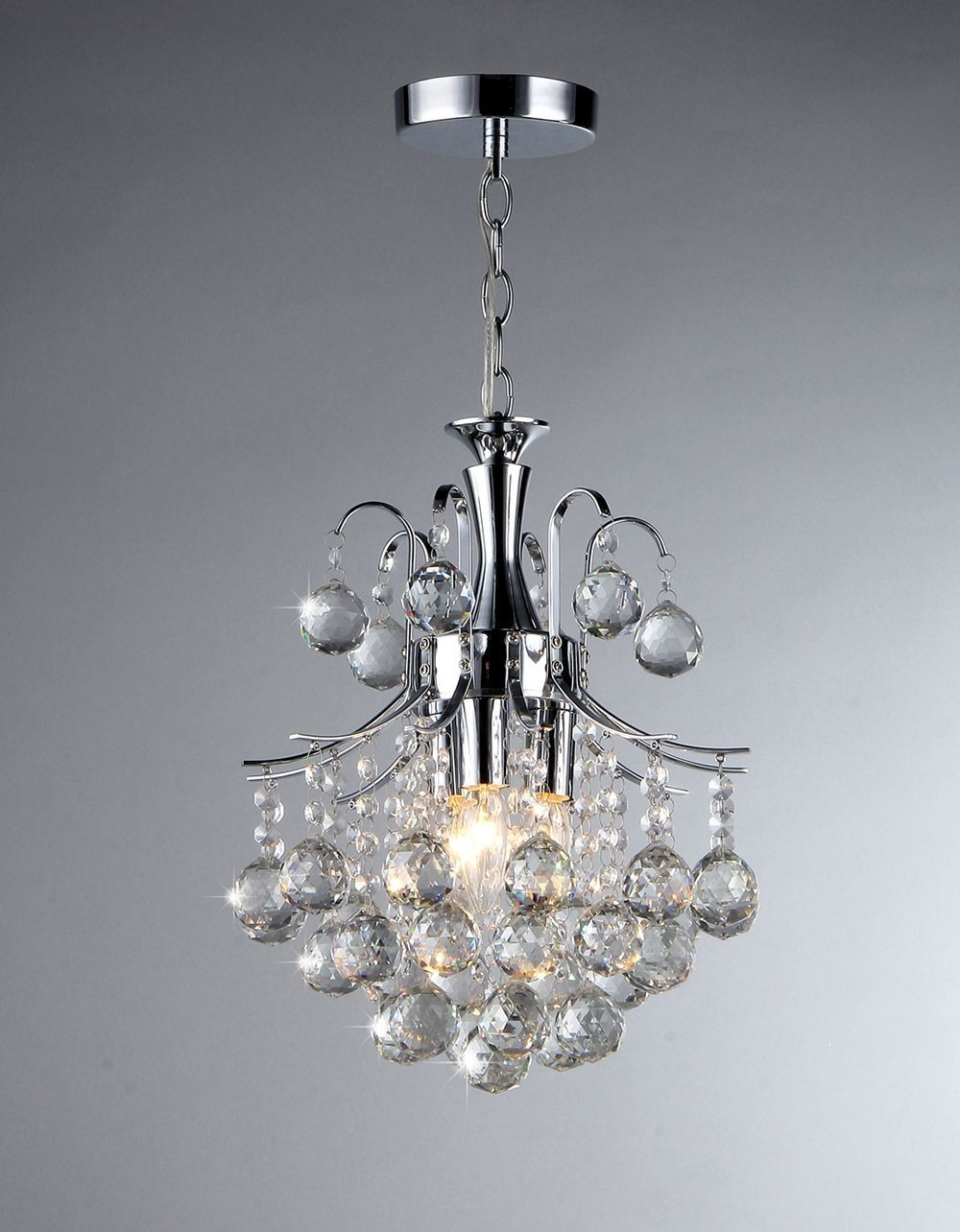 Illuminate your home with this dazzling 3-light crystal chandelier. This elegant lighting fixture is perfect for any room that needs an extra sparkle.