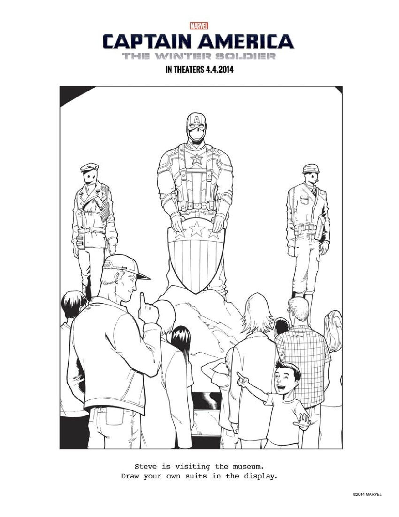 10 Captain America The Winter Soldier Coloring Sheets To Keep