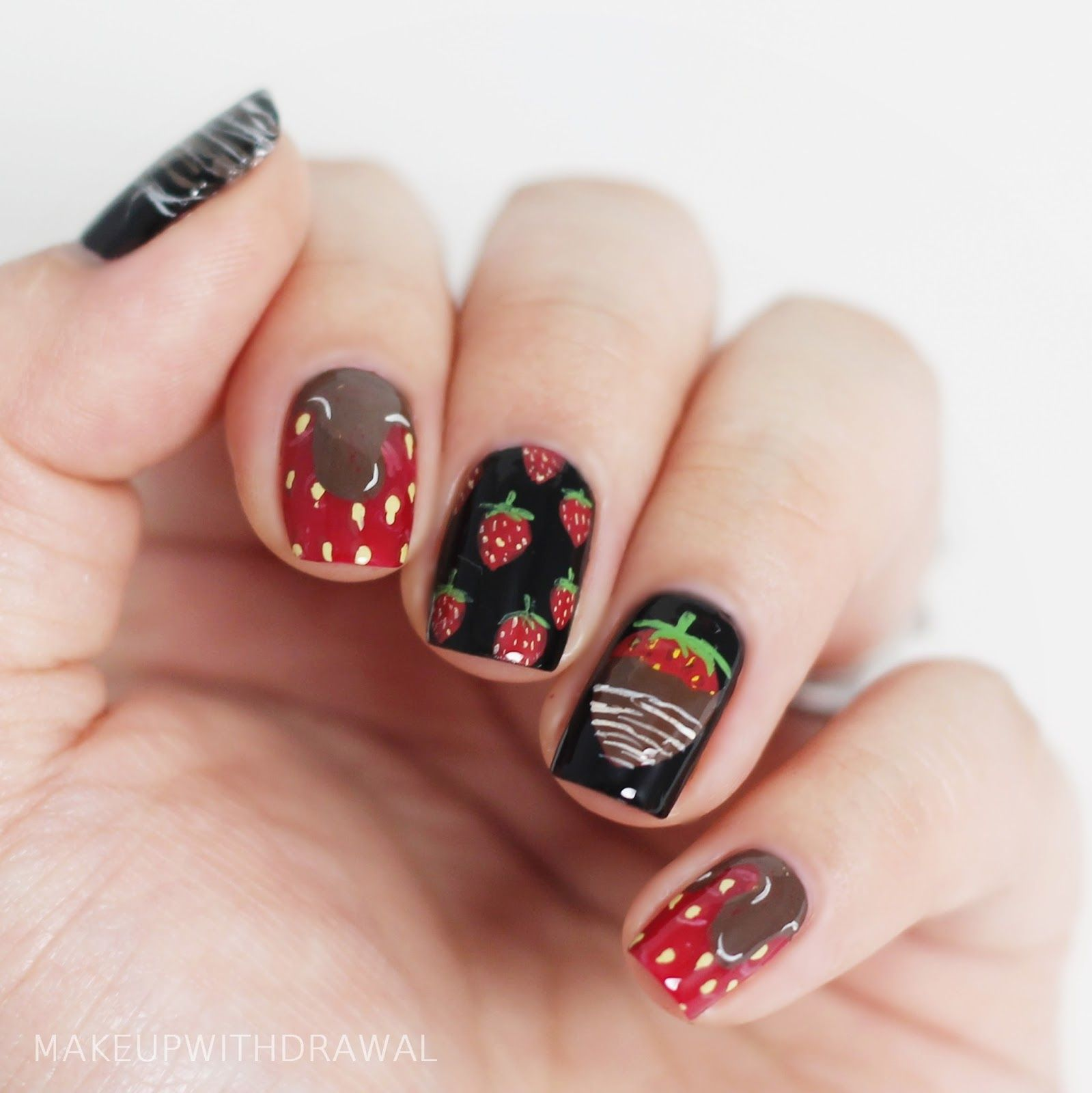 two valentines day manicures