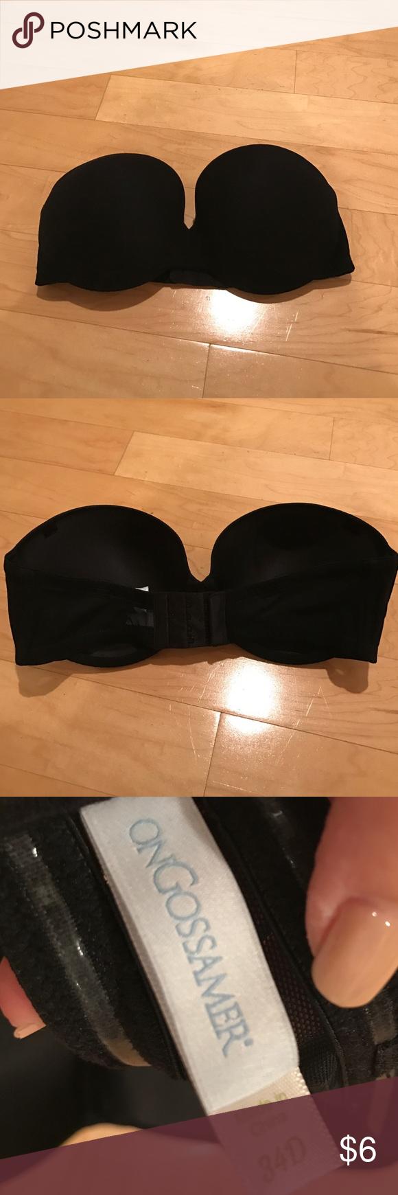 Ongossamer Strapless Black Bra 34 D Never worn, ripped tags off ongossamer Intimates & Sleepwear Bras