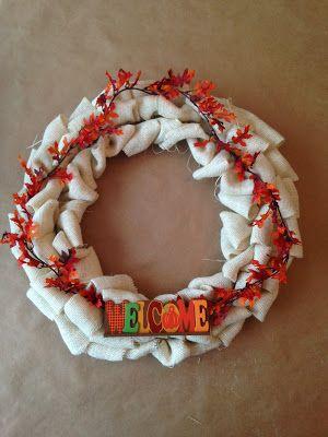 Dress & Home: Burlap Wreath DIY