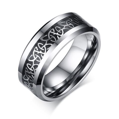 Tungsten Celtic Trinity Knot Biker Wedding Band 07 The Biker Nation Viking Ring Rings For Men Celtic Wedding Rings
