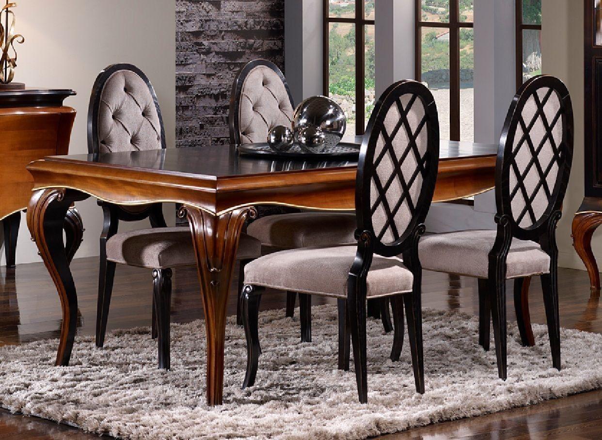 Silla cl sica de comedor dalma en mbar muebles muebles for Silla tapizada capitone
