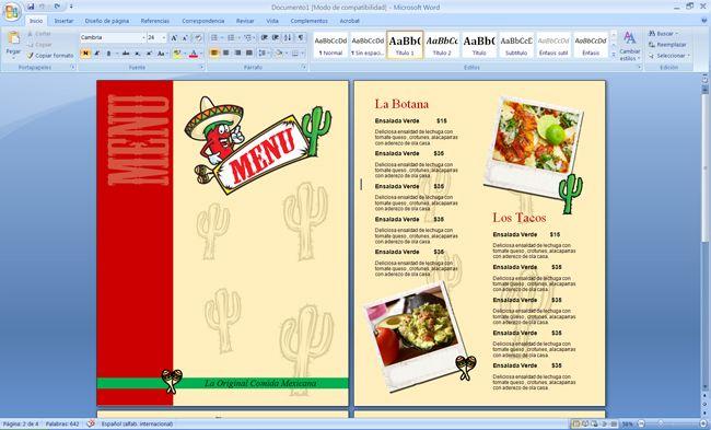 Plantilla Para Menu De Restaurante Comida Mexicana Menus De