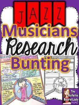Jazz Musicians Research Bunting   Teaching & the Classroom