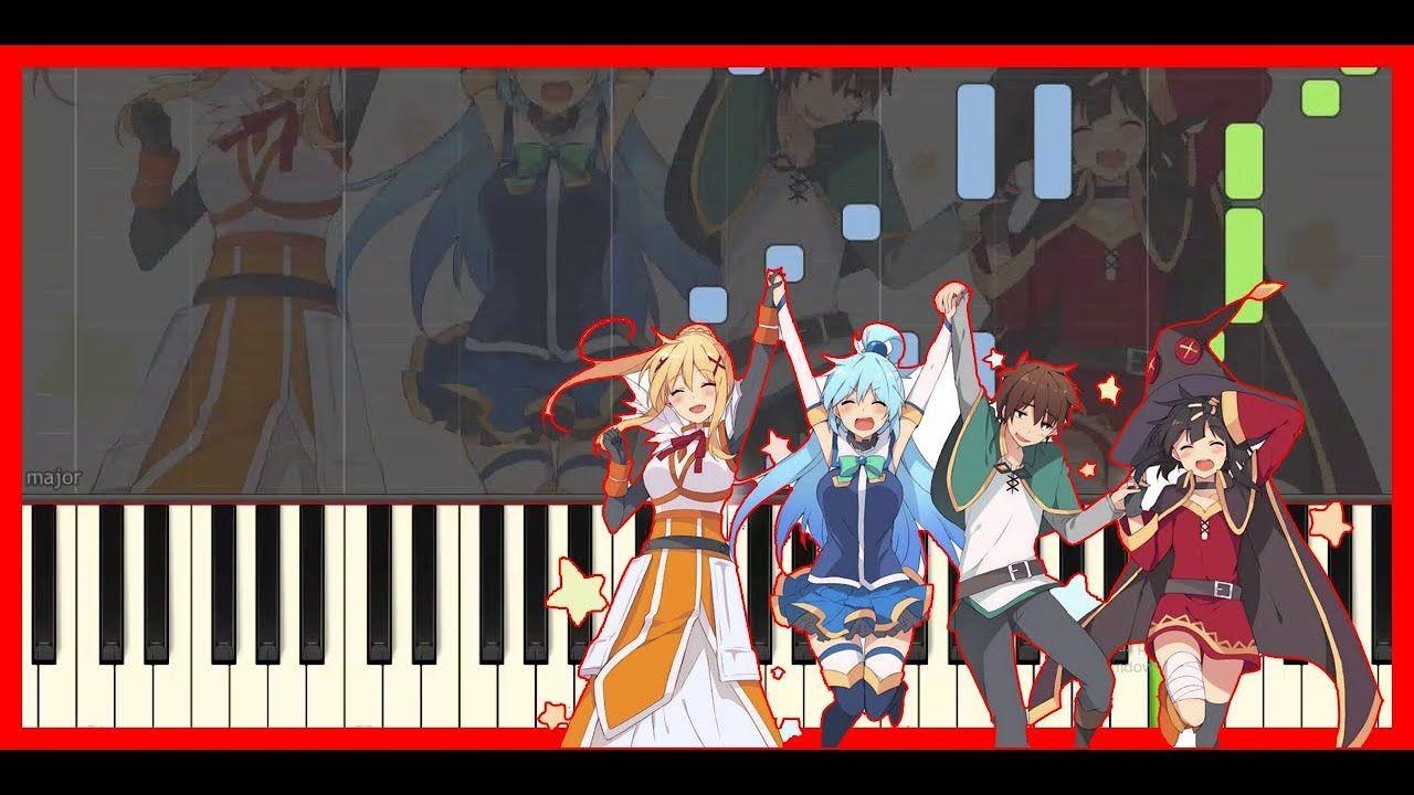 Konosuba Chiisana Boukensha Anime Piano Cover Synthesia Hd