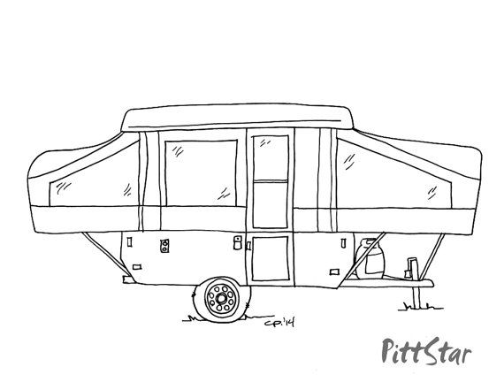 instant download - pop-up travel trailer