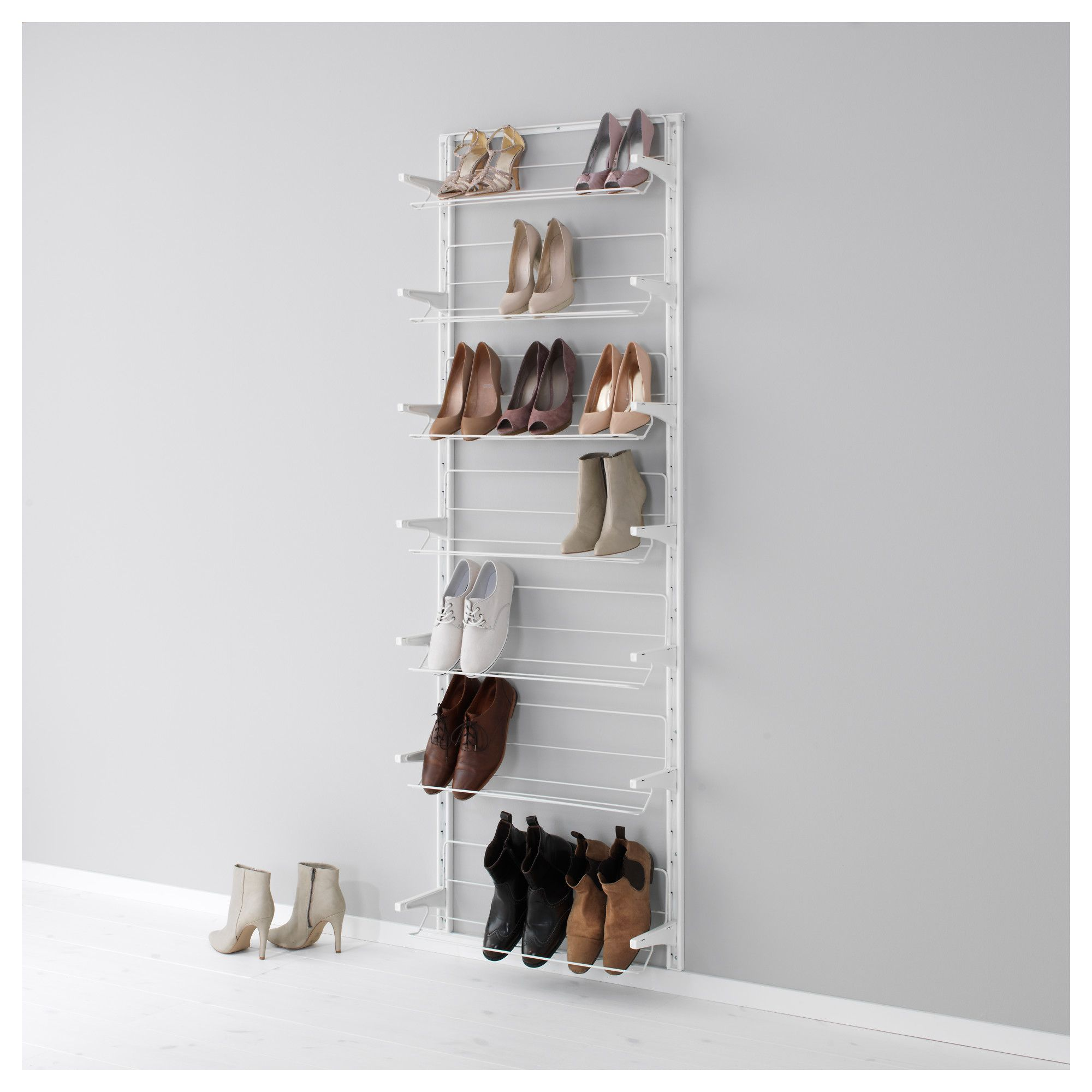 algot cr maill re range chaussures blanc shoes organizer ikea algot and walls. Black Bedroom Furniture Sets. Home Design Ideas