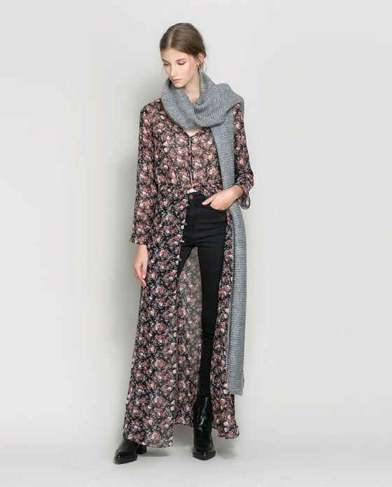 ed42d5af3d Image 1 of LONG SLEEVE FLORAL DRESS WITH BUTTONS from Zara | Look ...