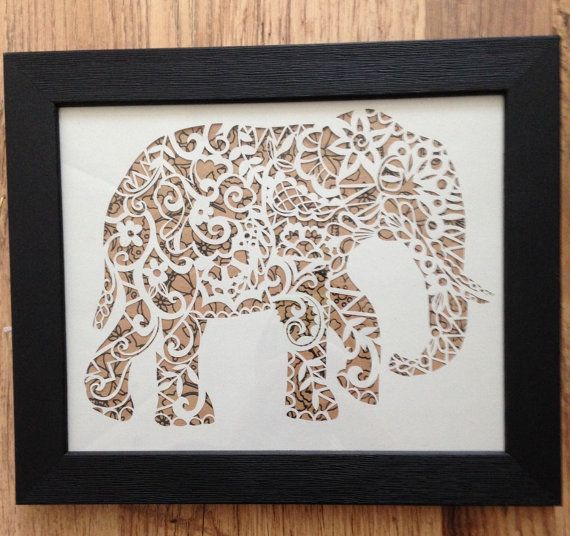 "7/"" ELEPHANT STENCIL ANIMAL STENCILS SAFARI CRAFT PATTERN PAINT ART TEMPLATE NEW"
