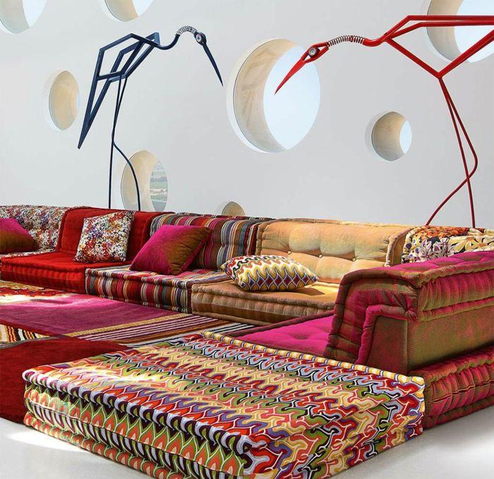 Le canapé marocain qui va bien avec votre salon | salon oriental ...