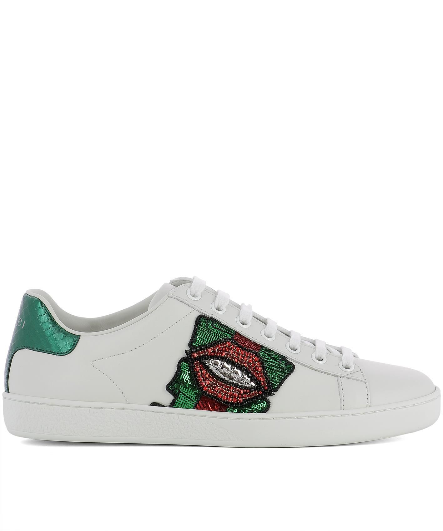 c440f4985 GUCCI GUCCI LIPS SEQUIN SNEAKERS. #gucci #shoes | Gucci in 2019 ...