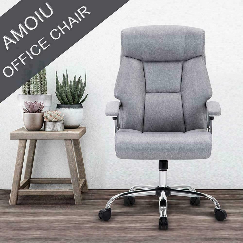 Amoiu fabric ergonomic office executive chair extra