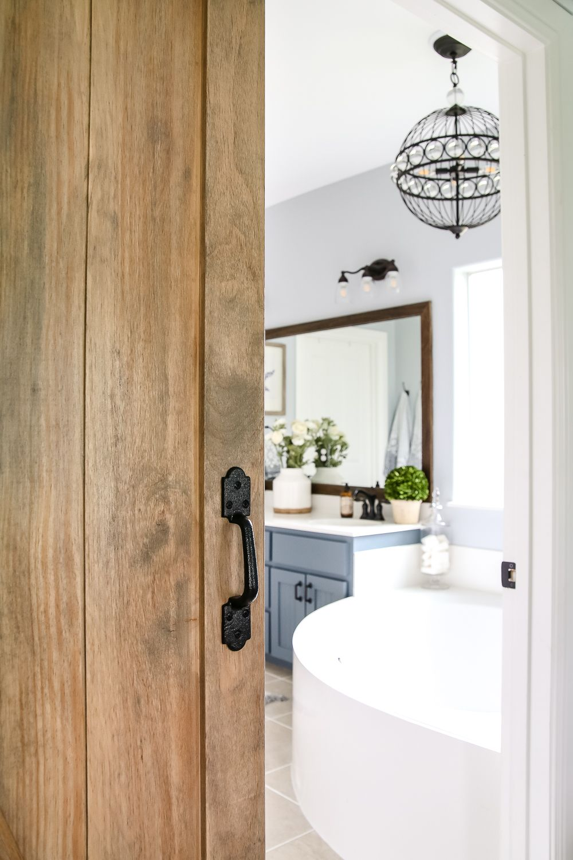 Bathroom Makeovers Lowes lowe's makeover bathroom reveal | builder grade