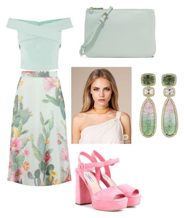 """Fresh-mint"" by megh87 on Polyvore featuring Matthew Williamson, Coast, Prada, Sandro and Dana Rebecca Designs"