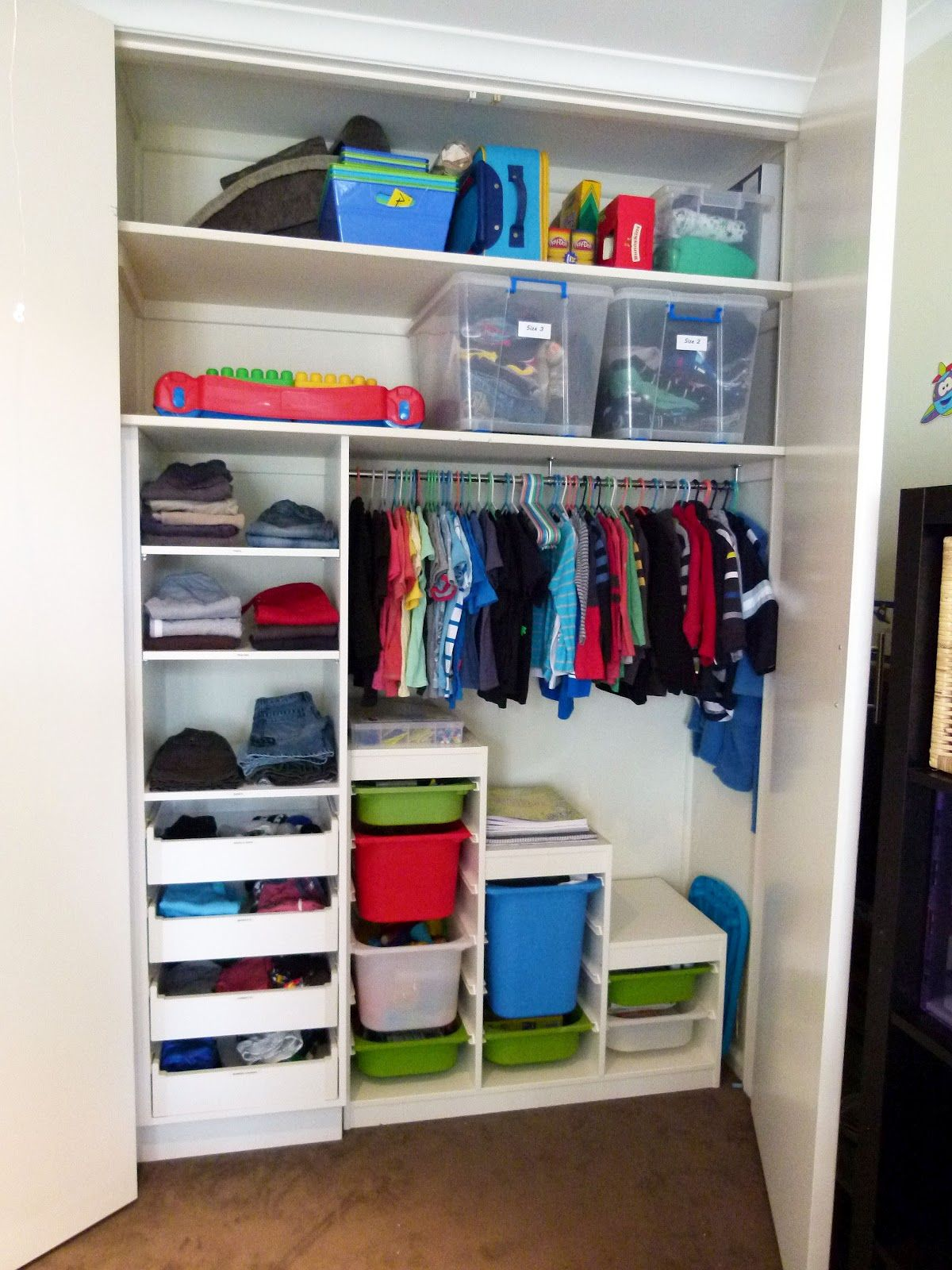 Organised Bedroom Organising To Make Life Easier Organising The Kids Cupboard Part