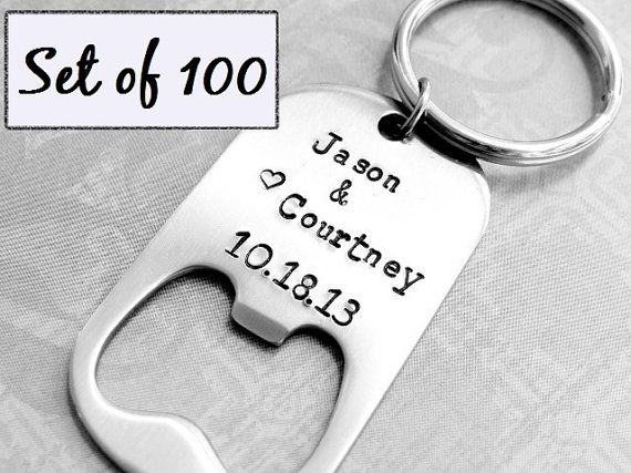 Personalized Bottle Openers Set Of 100 Wedding Favors On Etsy 580 00