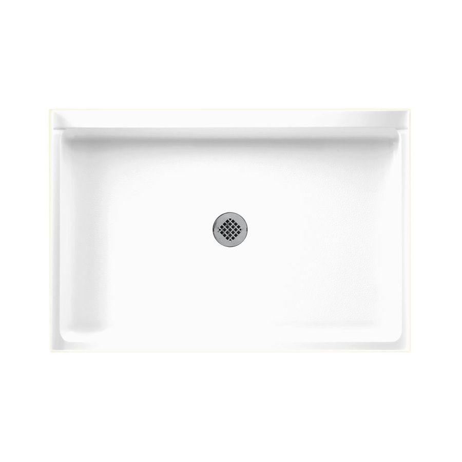 Swanstone White Fiberglass and Plastic Composite Shower Base (Common: 48-in W x 32-in L; Actual: 32-in W x 48-in L)