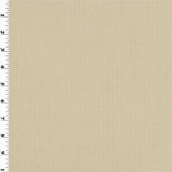 Beige Pin Stripe Wool Gabardine Suiting Fabric By The