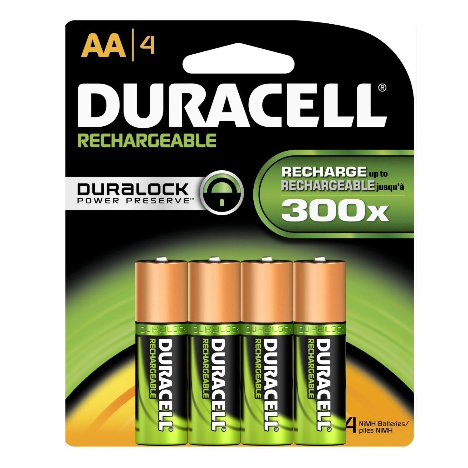 4 Pack Duracell Aa Rechargeable Batteries Aa4 1 2v Nimh Exp 2021 4x1 Dx1500h Duracell Rechargeable Batteries Nimh