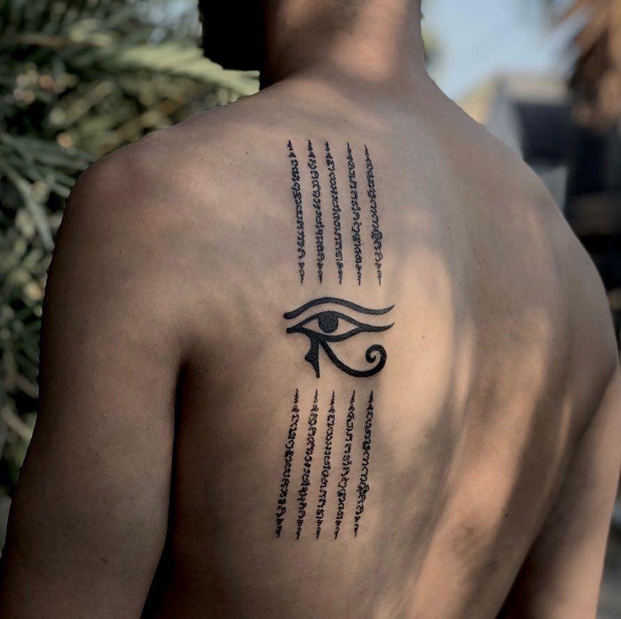 Photo of Eye of Horus By Charlie Rose Tattoo Canggu Bali