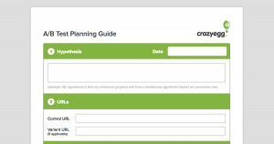 6adb326a50f1 The Crazy Egg A B Test Planning Guide