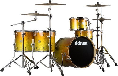 ddrum dios m series ds mp 20 5 piece drum kit yellow gold fade sparkle by ddrum. Black Bedroom Furniture Sets. Home Design Ideas