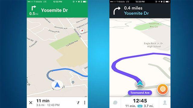 Turn By Turn Navigation Showdown Google Maps Vs Waze Map High