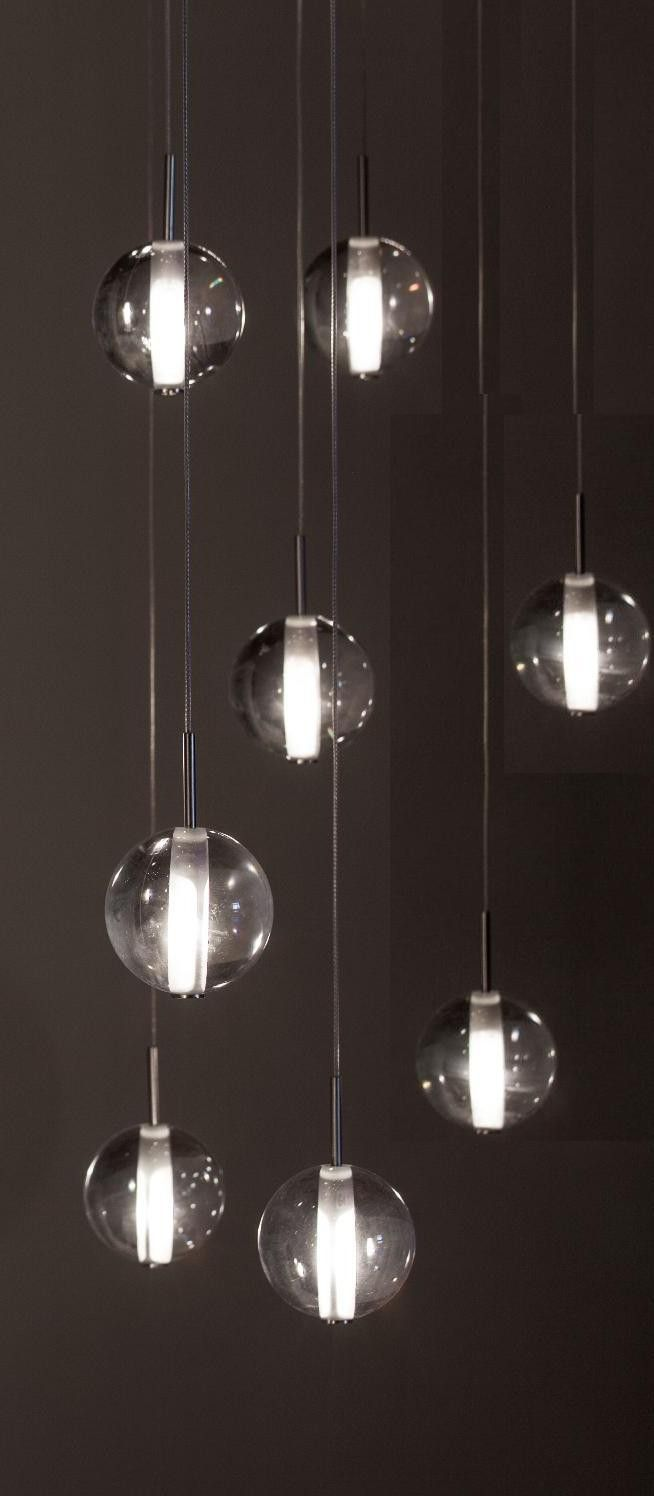 Bocci chandelier knock off dining room design ideas pinterest globe pendants lighting alternative to bocci lighting foyer staircase chandelier 14 clear frosted glass ball dining room pendant 14 clear glass premiere arubaitofo Choice Image