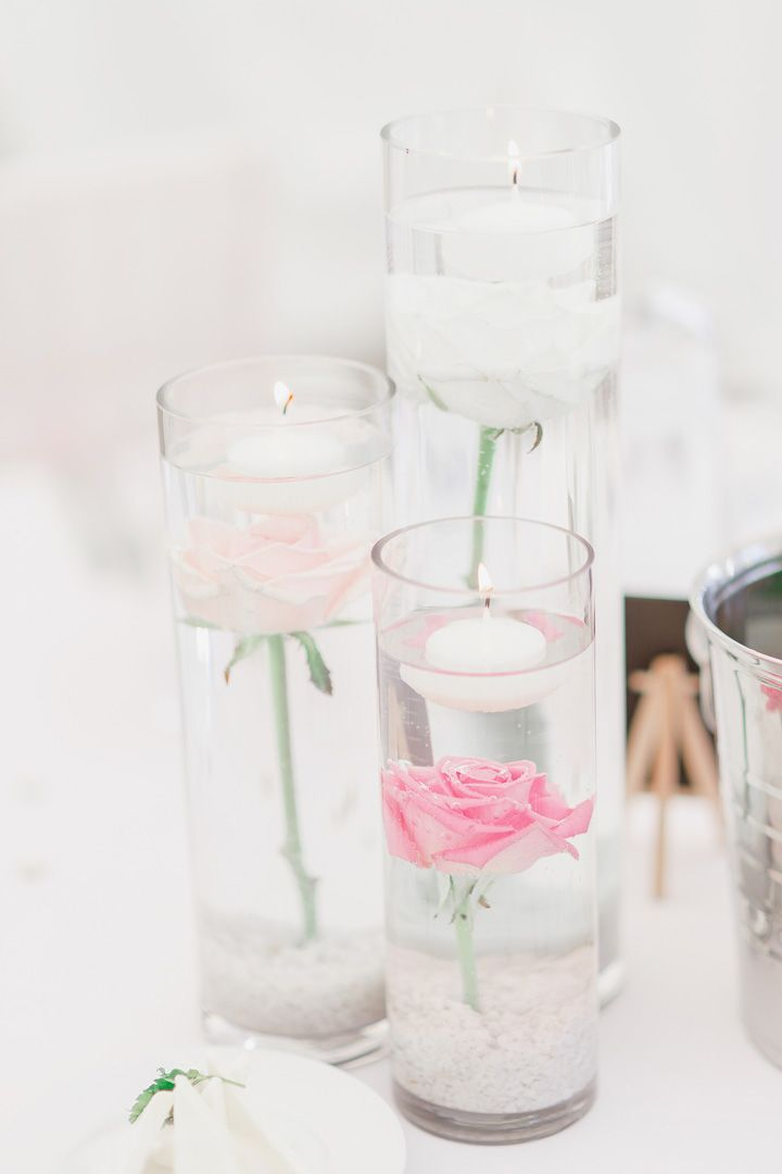 Floating candles in tall vases | fabmood.com #weddingdecor #centerpieces