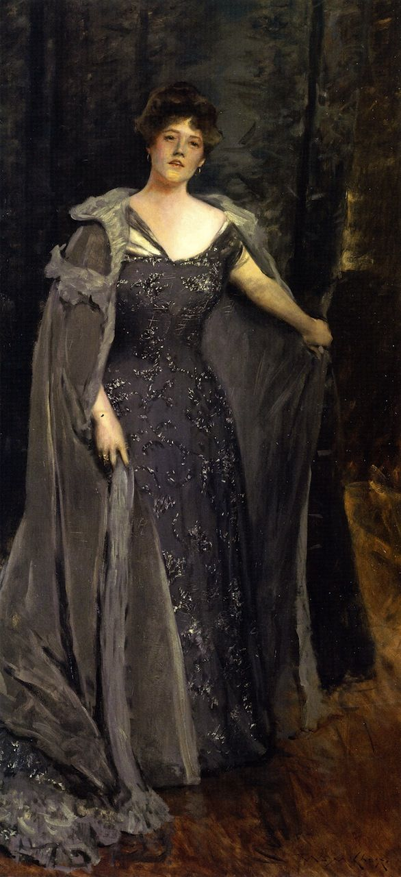 Portrait of English actress Hilda Spong by William Meritt Chase, c. 1900