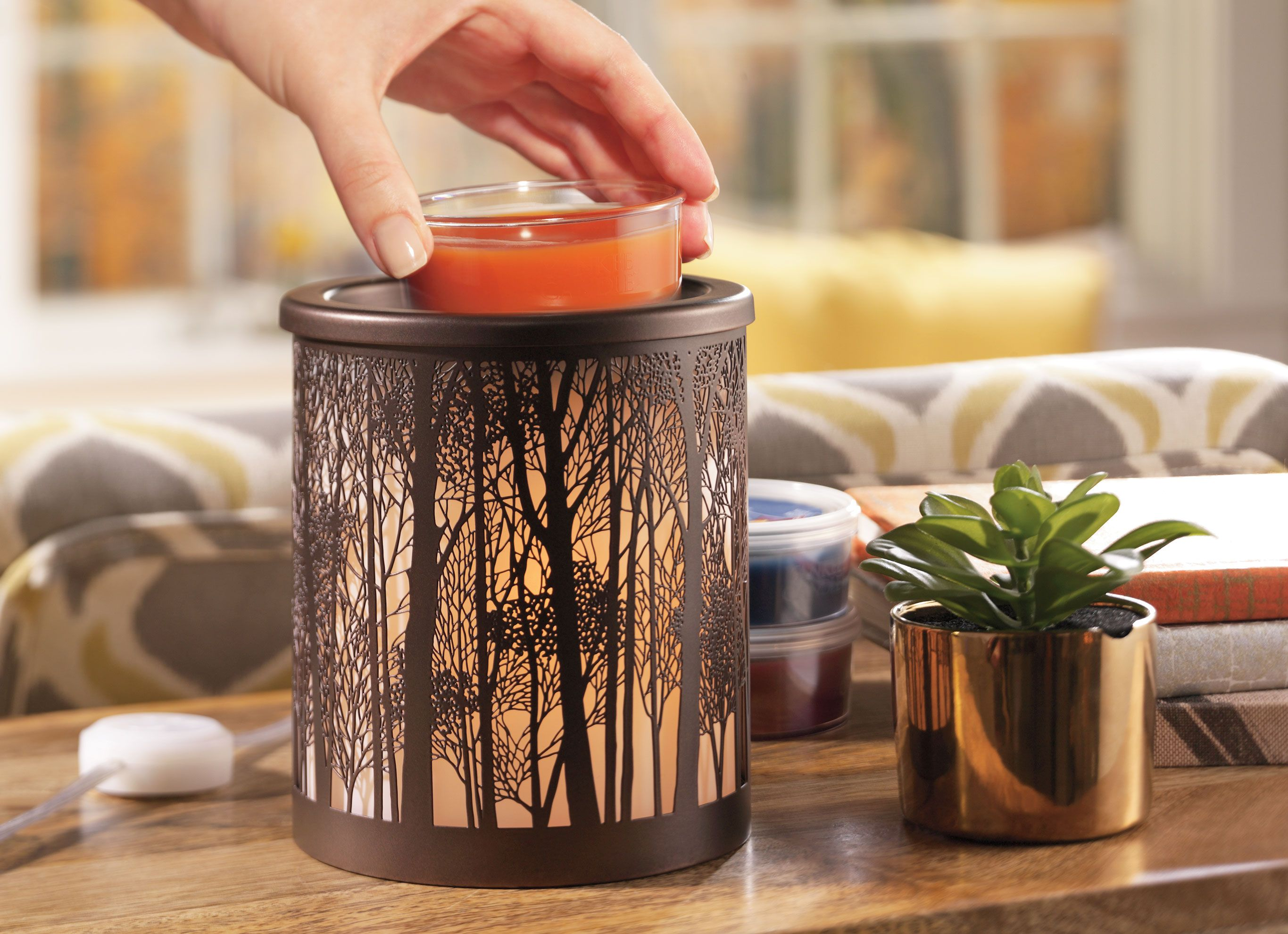 Twilight Silhouettes W Led And Timer Scenterpiece Wax Warmer