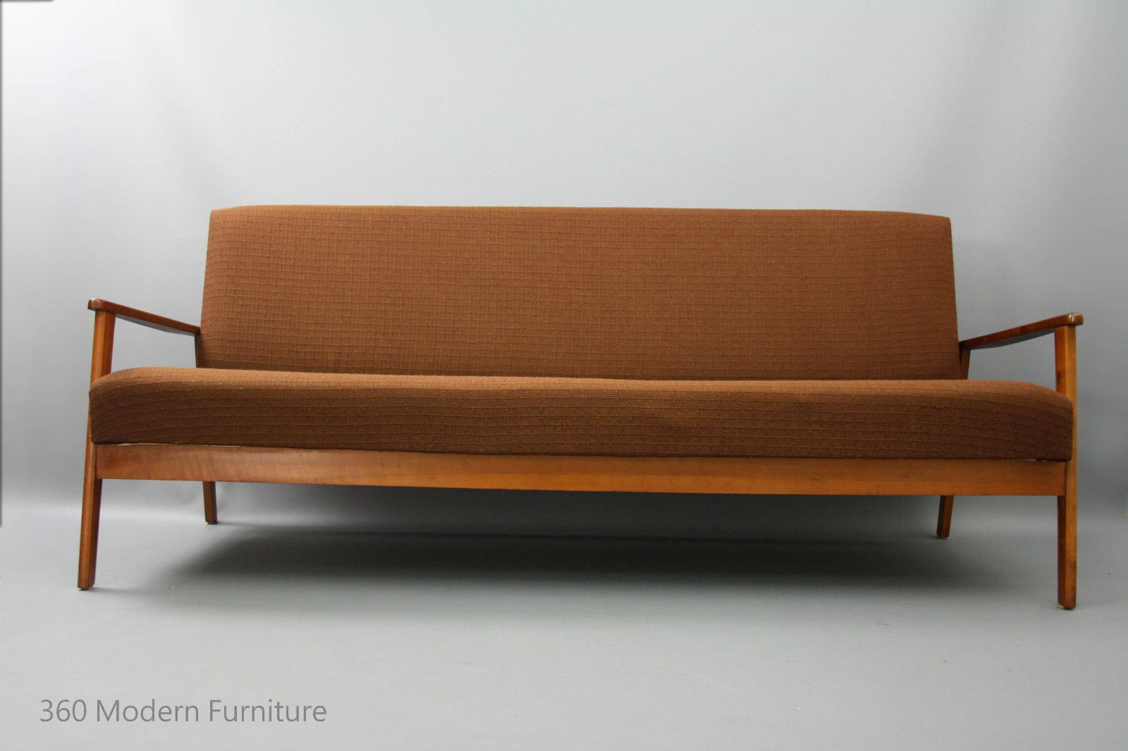 Mid century modern sofa bed lounge 3 seater click clack for Mid modern period