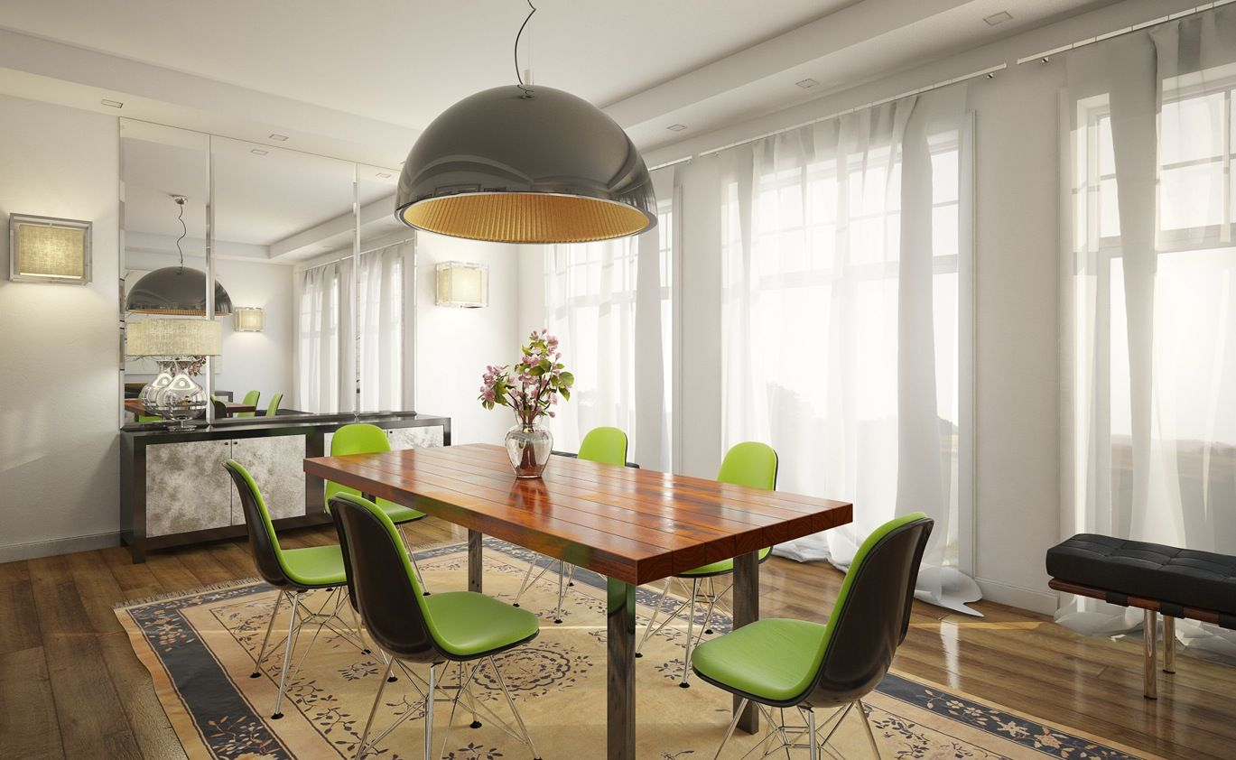 Dining Room Great Green Color Dining Chairs For Modern Dining Room ...