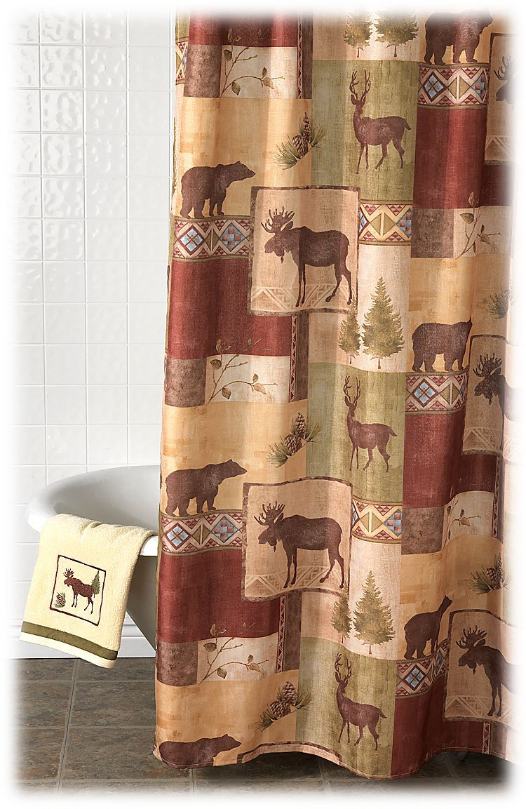 Bacova Mountain Lodge Shower Curtain | Bass Pro Shops: The Best Hunting,  Fishing,