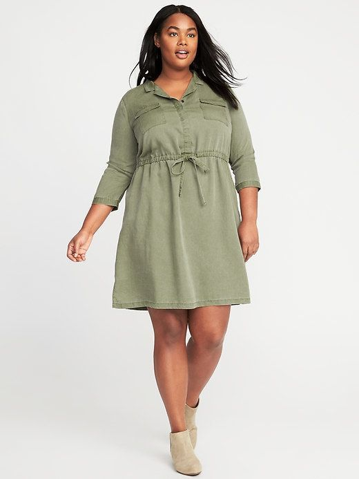 016082e7b Old Navy Utility Plus-Size Shirt Dress | Products | Plus size shirt ...