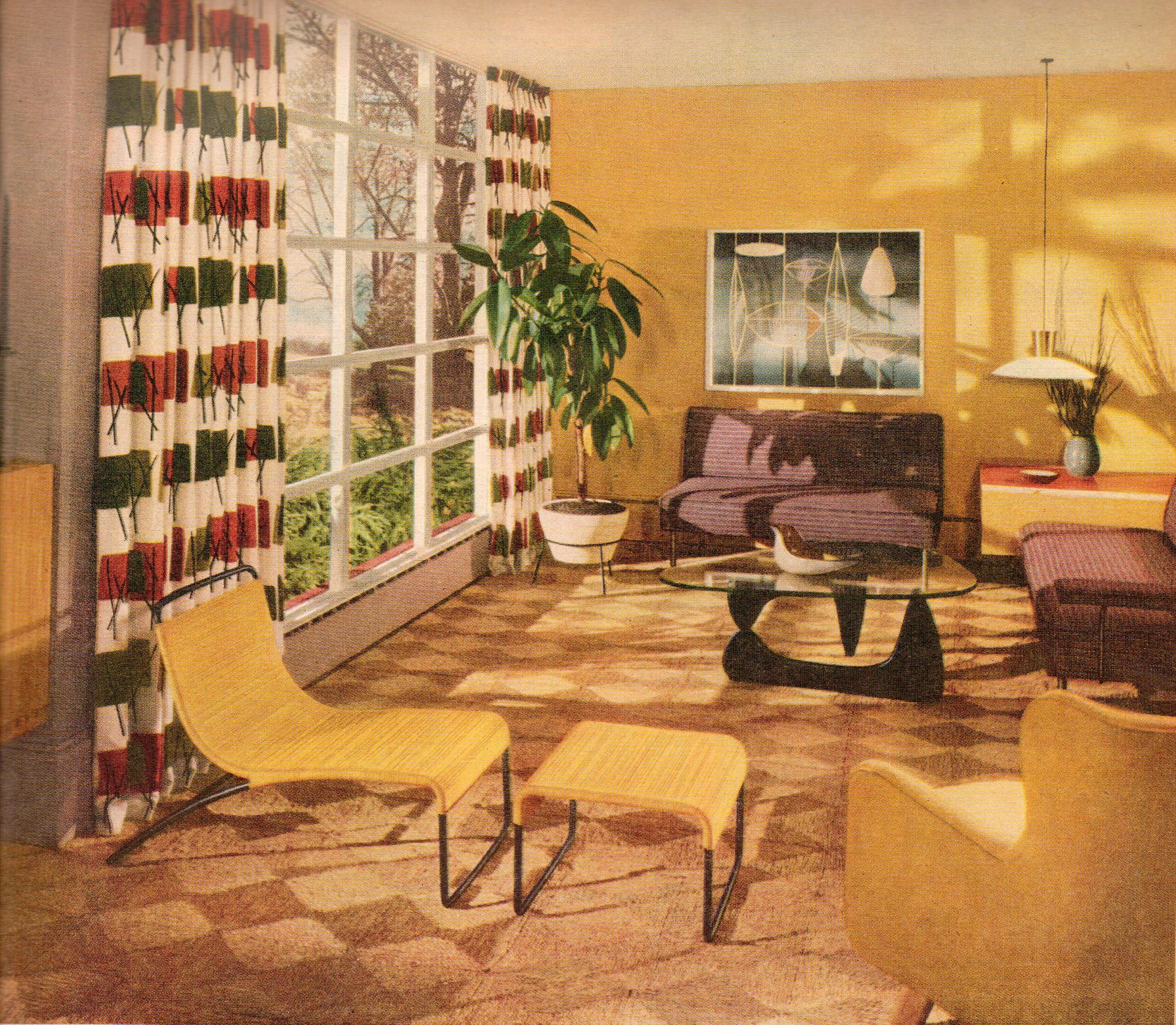 Retro Living Room Ideas And Decor Inspirations For The: Yellow Mid Century Modern Living Room