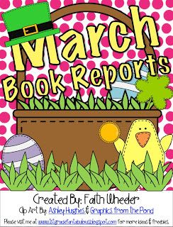 March book report freebies covers st patricks day and easter top 10 easter ideas book reports fact families snacks crafts etc negle Image collections
