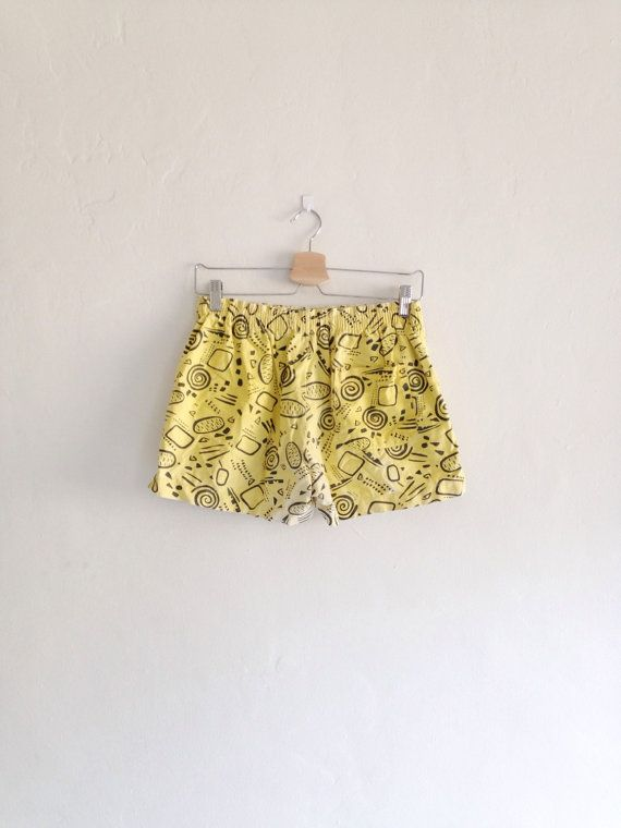 Vintage Shorts 1990s Unisex Nu Wave Crazy by bodypartsandcrafts