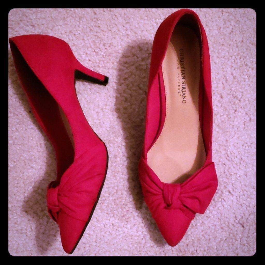Christian Siriano Shoes Christian Siriano Kitten Heels Color Red Size 9 Kitten Heels Heels Christian Siriano