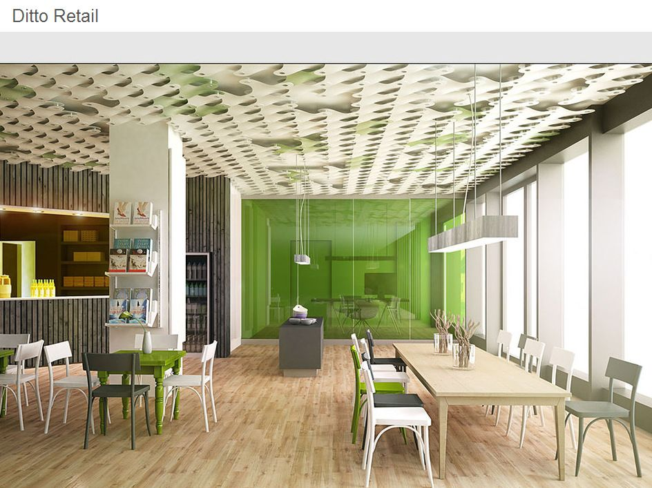 contemporary space with lime green accent wall yellow on commercial office colors for walls id=63844